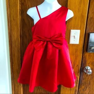 Other - Girls Red Sateen Orchid Lane Holiday Dress Size 8